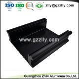 Extrusión de Aluminio disipador para gabinete amplificador para el coche con la norma ISO9001