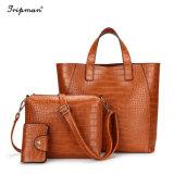 Под торговой маркой Cathylin сумка женская сумка из натуральной кожи женщин моды 3ПК сумки