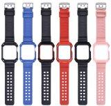 AppleのApple Iwatchのための保護フレームの時計バンドが付いているTPUの革のための最も新しい時計バンド