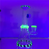 Tubo di fumo di vetro di piccola dimensione del tubo di acqua del riciclatore 6.5inch 8.5inch della luce UV