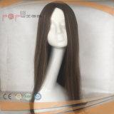 El cabello humano encantador peluca la parte superior de la Seda (PPG-L-01812)