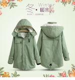 Modèle neuf de couche de dames de parka de jupe de l'hiver de femmes de parka de jupe de l'hiver