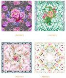 Bunter Blumen-Muster-gedruckter Silk Schal-Lieferant von China