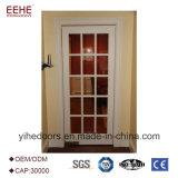 Алюминий 12мм закаленного стекла двери конструкция двери с одной спальней