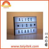 Casella chiara Lightbox/contenitore chiaro cinematografico acrilico di notte personalizzabile di pellicola LED del cinematografo