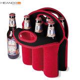 水差しのキャリア戦闘状況表示板によって絶縁されるNeopreaneは安全の袋は6パックのワイン・ボトルハンドルを運ぶ(赤い)