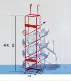 Crémaillère d'étalage s'arrêtante en métal de boisson de l'eau minérale