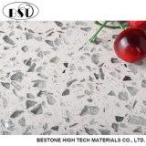 Parte superiore artificiale di vanità della stanza da bagno della pietra del quarzo del platino bianco