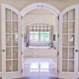 二重内部部屋のための振動によってアーチ形にされるガラス木製のドア