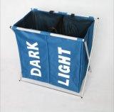 Doppio cestino di lavanderia dello scomparto del Hamper 2 della lavanderia dello scompartimento