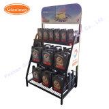 Kundenspezifisches Großhandelsmetall Enginge, das Schmieröl-Flaschen-Bildschirmanzeige-Regal-Zahnstange für Verkauf schmiert