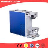 2017 precio portable de la máquina del laser de la fibra del metal de la venta caliente 20W 30W 50W con el sistema rotatorio