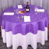 cena rectangular del mantel de la boda del partido del hotel del mantel del poliester de la mesa redonda de la tela moderna del paño y paño de la mesa de centro
