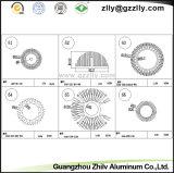 De zonnebloem-Vorm van het Bouwmateriaal de Profielen Heatsink van het Aluminium
