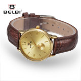 Montre simple neuve de quartz de Madame Business Watch Waterproof Leather de Belbi