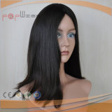 Big Layer Style Long Virgin Remy Cabelo Blend Brown Color Silk Top Women Wig