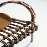 Круглый стол и стул ротанга PE напольной мебели патио синтетические для трактира