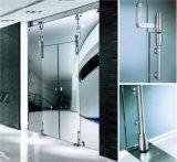 Accessoires de douche Frameless Porte coulissante en acier inoxydable Connecteur sur-panneau supérieur Connecteur Sideligh