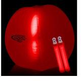 Sfera di spiaggia gonfiabile di colore rosso di promozione con lo scoppio del LED all'interno per il partito