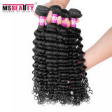 インドの深い波の人間の毛髪の織り方は100%の加工されていないバージンの毛を束ねる