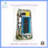 Affissione a cristalli liquidi mobile del telefono delle cellule per lo schermo di tocco della galassia S7 G9300 G930f di Samsung con il blocco per grafici