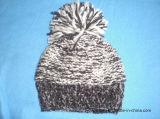 Sombrero de encargo de acrílico de la gorrita tejida del Knit POM POM del invierno