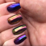 Blueberry cromado Espejo Espejo de camaleón pigmento manicura