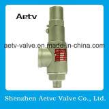 Bronce de la marca de fábrica de Aetv/acero inoxidable 304/316 válvula de descarga de presión de la seguridad