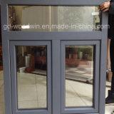 Janela Foshan Vidro temperado duplo Madeira e janela de alumínio composto