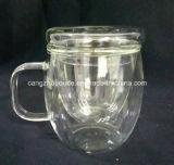 Taza caliente del vidrio de Borosilicate de la venta al por mayor del precio de fábrica de la promoción de venta