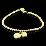 方法宝石類によって個人化されるカスタム18k金の女性の円形のビードのブレスレット