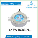 IP68 6Wのステンレス鋼LEDの水中噴水ライト