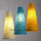 Iluminação moderna com fio transparente Lustre Luz Pendente para restaurante