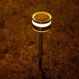 Garten-Lampe des im Freien heller Edelstahl-Solarrasen-Licht-LED