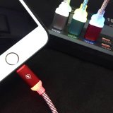 Câble micro coloré de l'éclairage LED USB pour le téléphone mobile