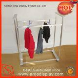 La ropa colgada soportes metálicos de prendas de vestir ropa de racks de pantalla