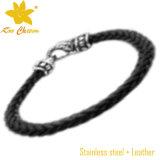 Stlb-012 pulseras hechos a mano de cuero de los hombres de