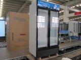 Heiße Verkaufs-Qualität zwei Tür-aufrechte Glastür-Kühlvorrichtungen