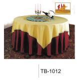 黄色い椅子カバーおよびテーブルクロス