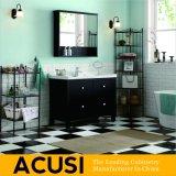 アメリカの現代様式の高品質の純木の浴室の虚栄心(ACS1-W09)