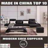 Mobilia centrale L sofà di formato di figura con il cuoio della Tabella