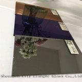 3mmの宝石類の青いミラーの明確で、多彩な銀製ミラー、装飾のためにガラス着色されたミラー