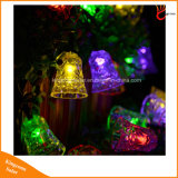 Jingle Bells Landscape 50LED Outdoor Solar String Lights para banquete de casamento Christmas Garden Path Decorações