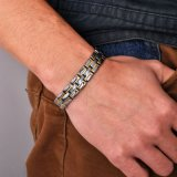De veelkleurige Armband van het Titanium van de Greep van het Horloge van de Kleur met 4in1 BioElement