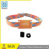 Am meisten benutzter Zoll gedruckter gesponnener passiver RFID Wristband