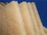 De bruine Stootkussens Op hoge temperatuur van de Media van de Filter van de Weerstand Synthetische 10mm Dikte
