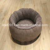 둥근 Flannel 호화스러운 개 침대 (OEM)