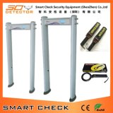 Porte de détecteur de métaux de revue du projet de 6 zones