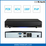4CH 1080P Poe IP Camera e NVR Security System