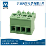 Зеленые разъемы терминального блока черноты 2.5mm 3.81mm 5.08mm Scressless